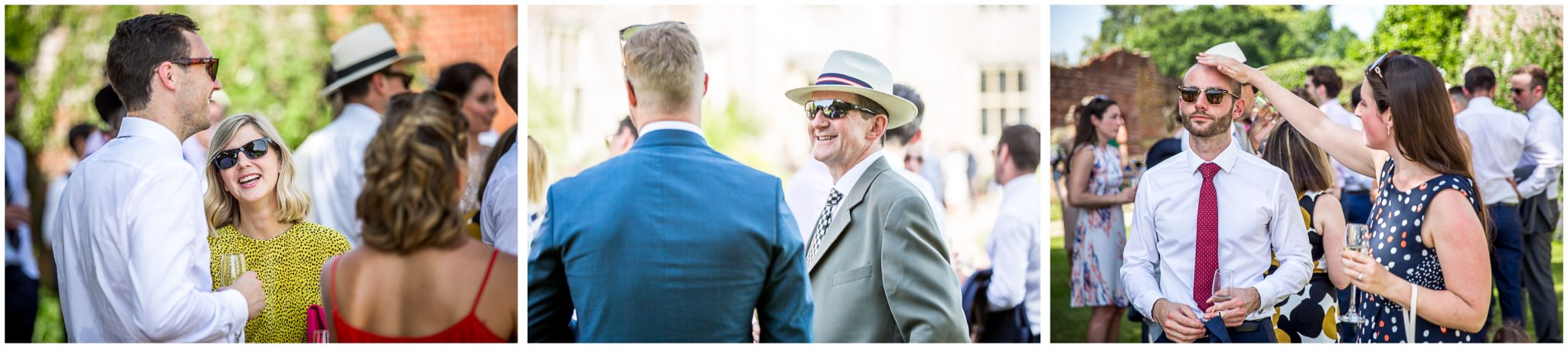 Candid guest photographs at wedding reception
