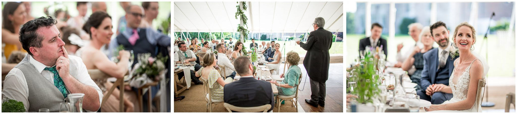 The father of the bride gives his speech
