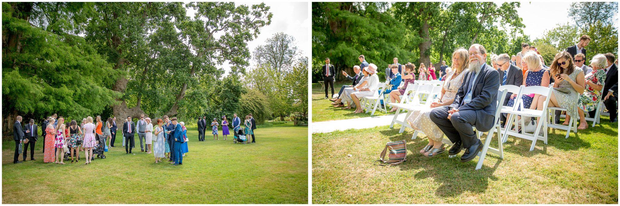 Wedding guests arrive