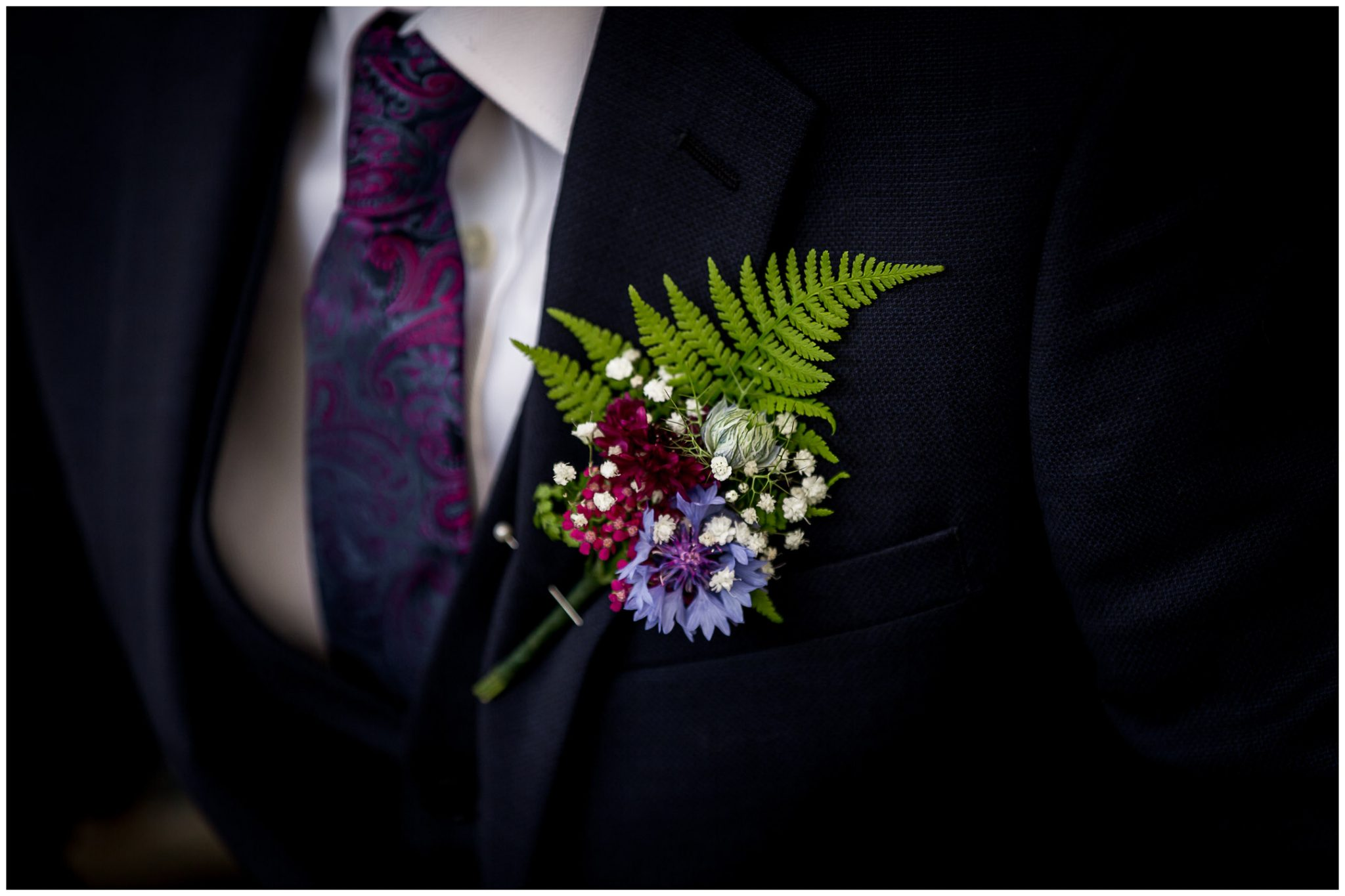 The groom's buttonhole