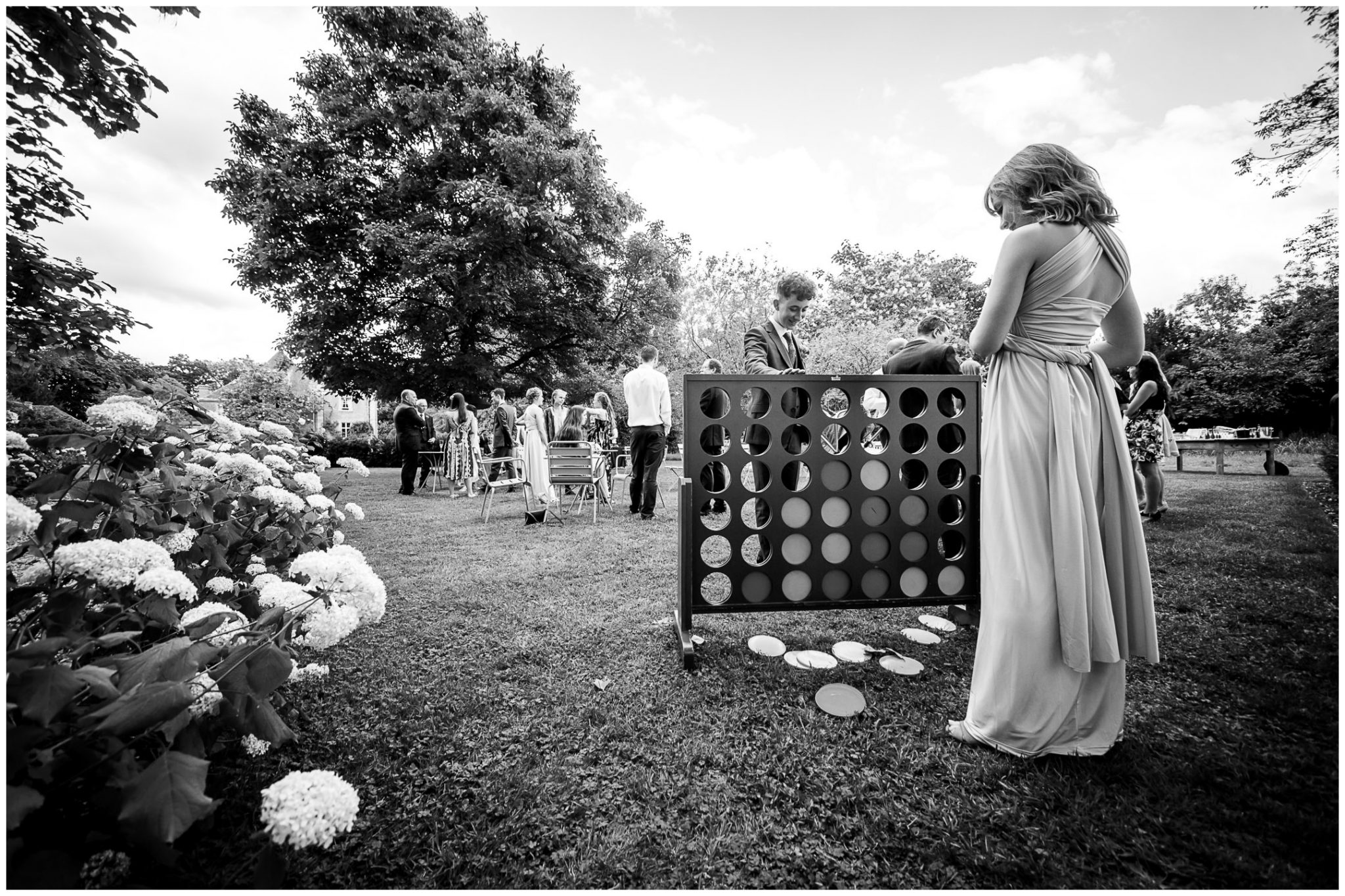 Garden games during the reception