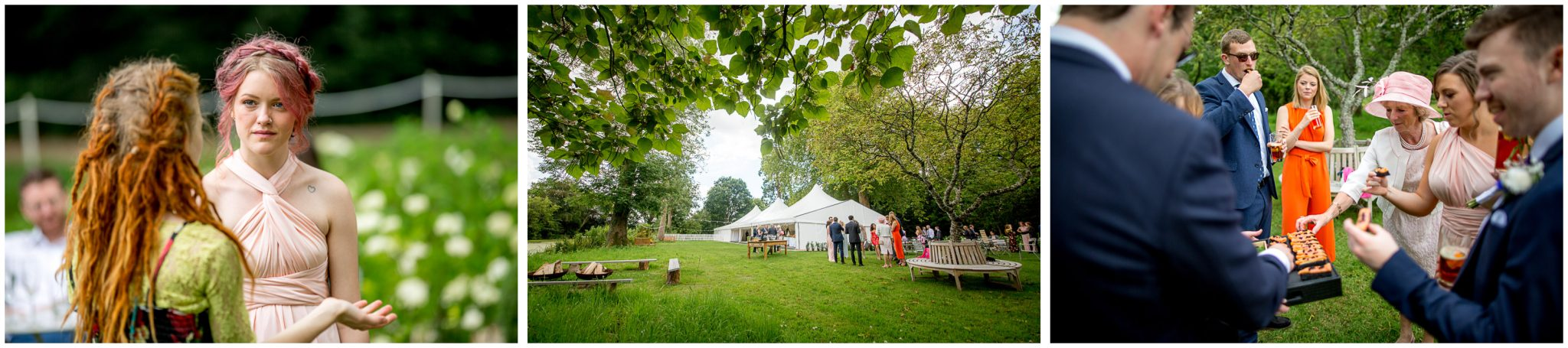 Documentary photographs of wedding guests