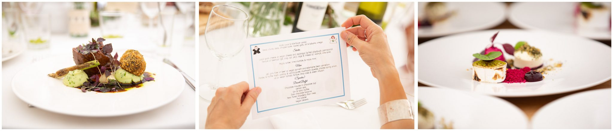 Stunningly presented courses in the wedding breakfast