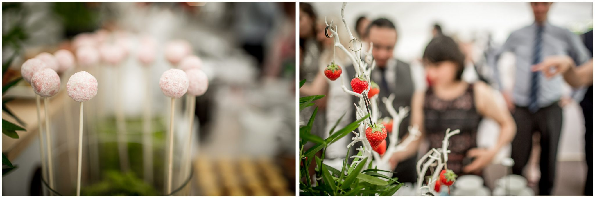 Dessert details from high-concept wedding breakfast