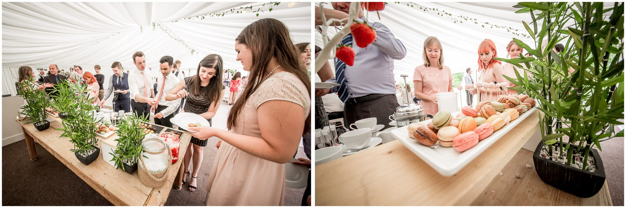 Guests attack the dessert station at the end of the meal