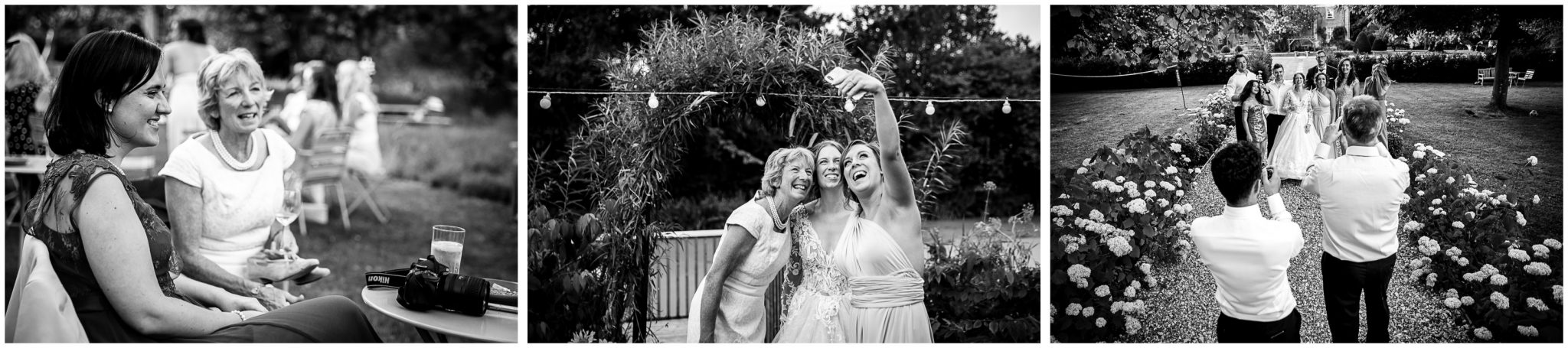 Candid moments at the evening wedding reception