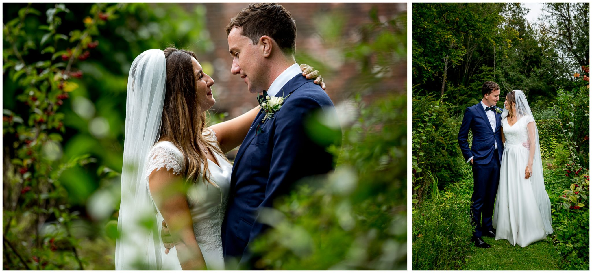 English country garden wedding photography couple portraits