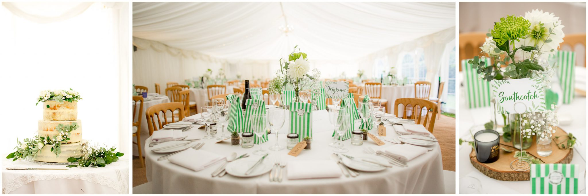 Interior set up for country garden marquee reception
