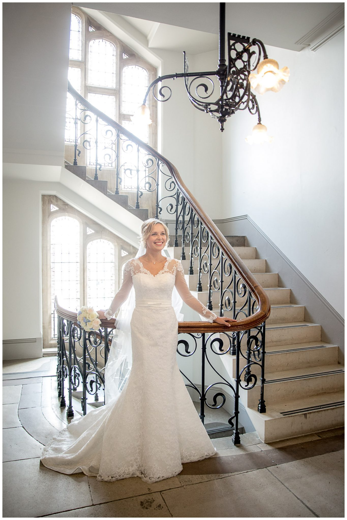 Bride portrait in Winchester Registry Office