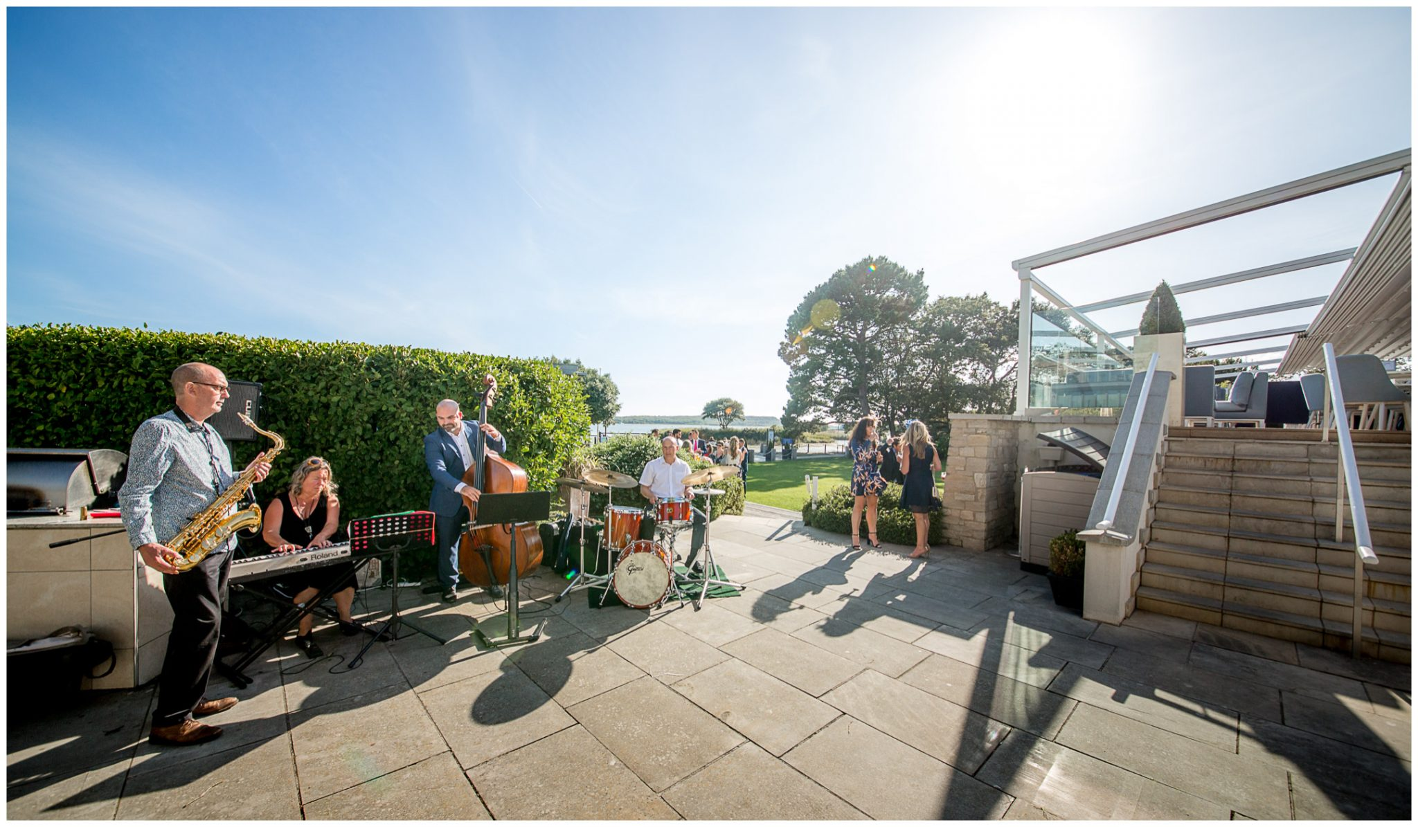 Music in the gardens of Christchurch Harbour Hotel
