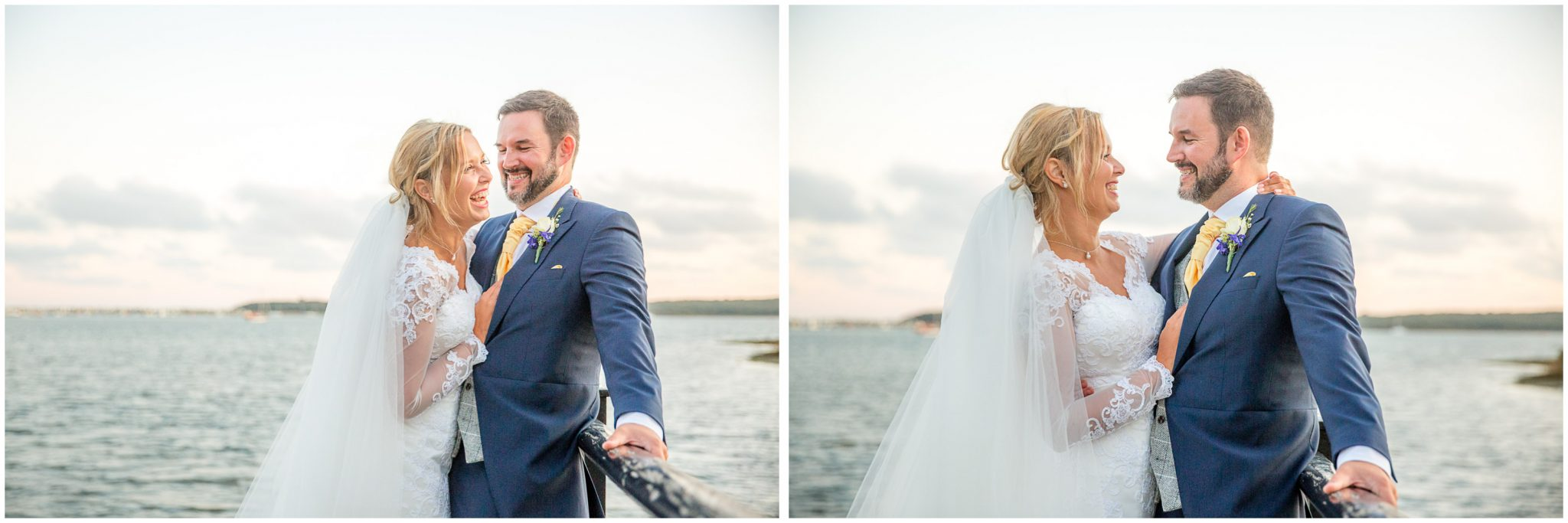 Couple portraits by the waterside
