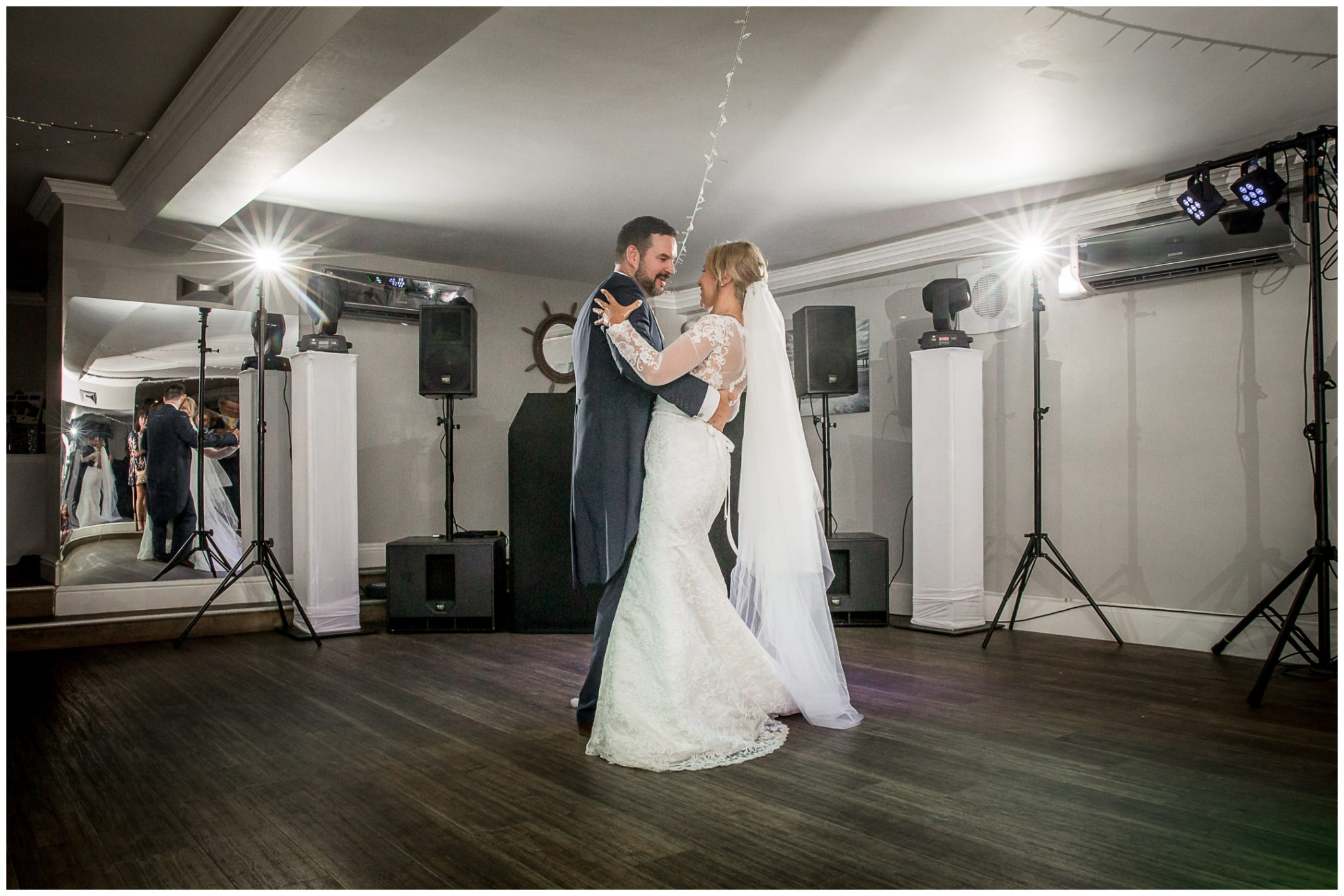First dance in the downstairs function suite at the hotel