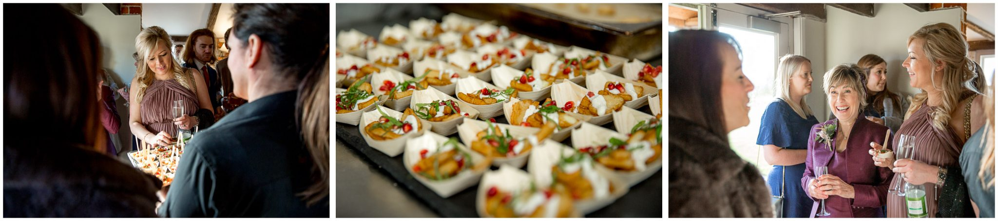 Drinks and nibbles as the fizz and canapes circulate