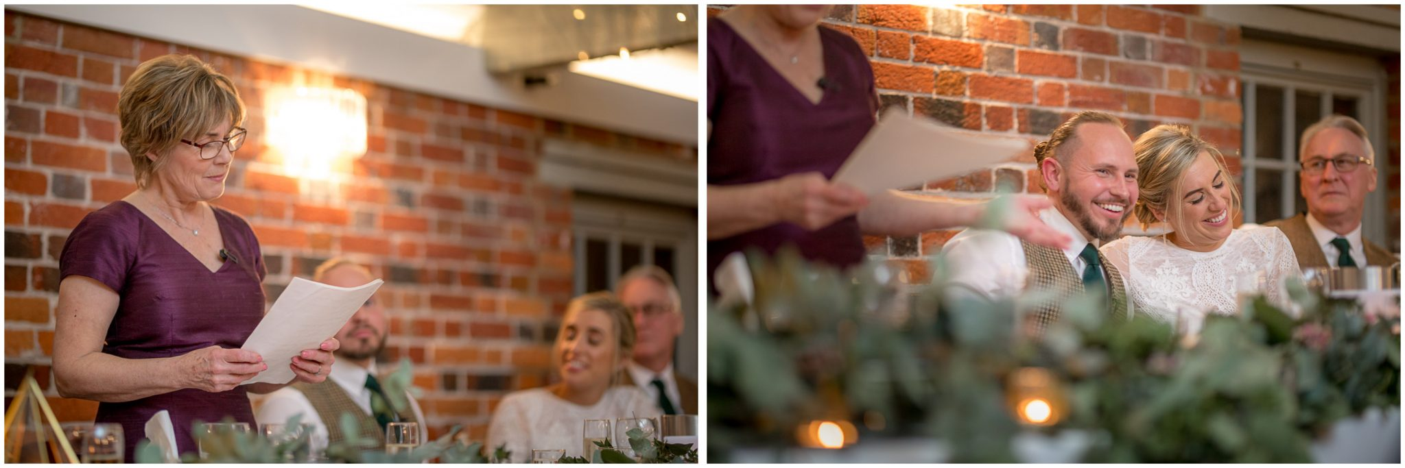 Mother of the bride gives the opening speech