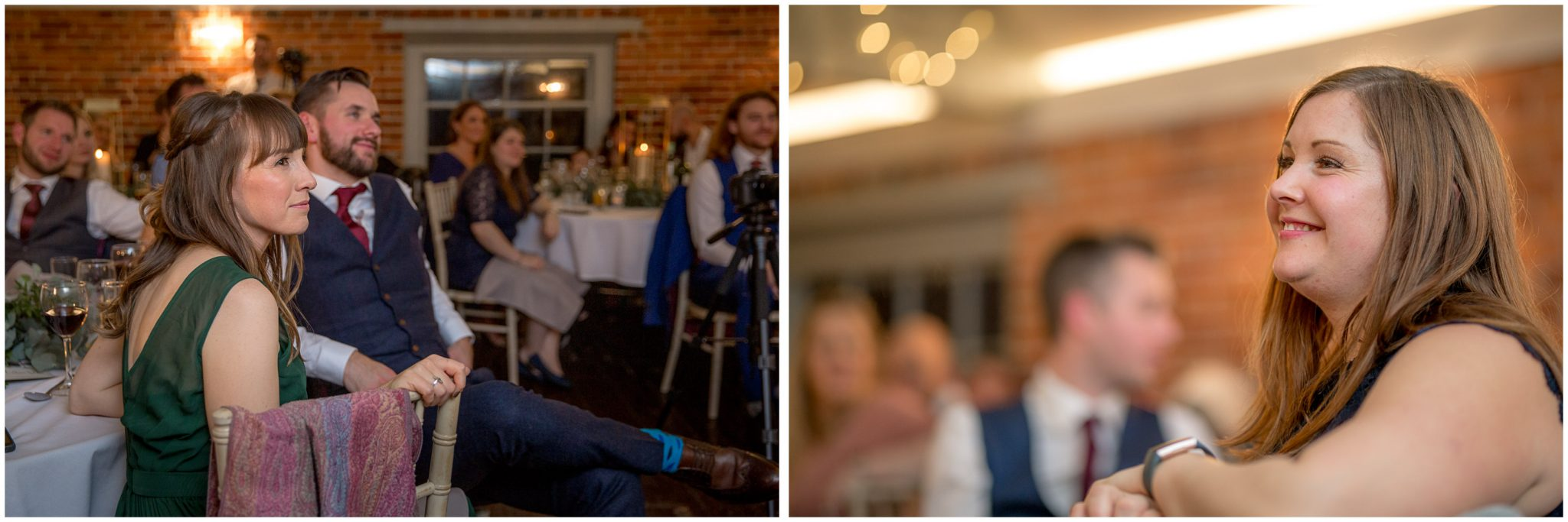 Candid photos of guests watching the speeches