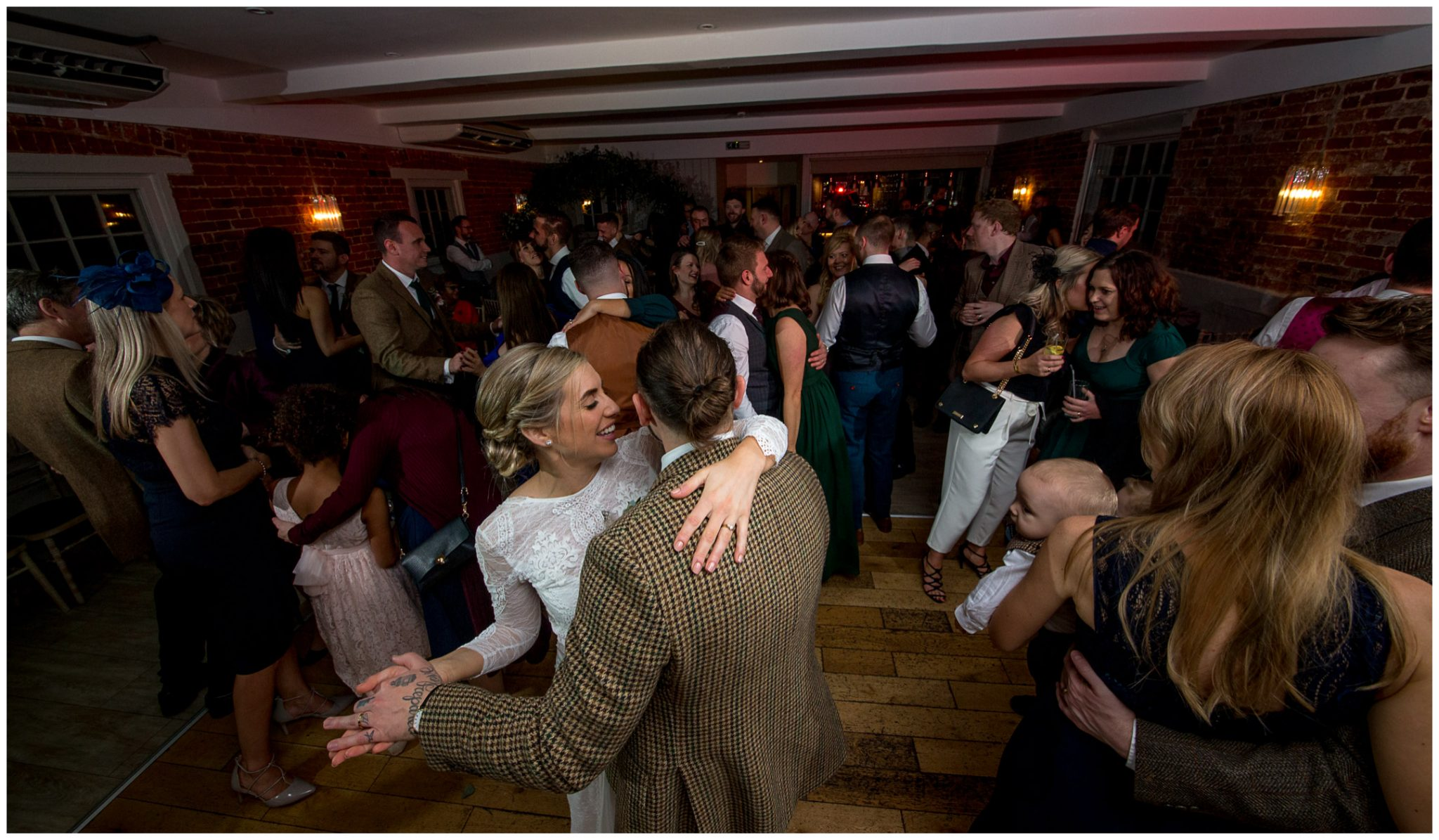 Guests hit the dancefloor for the evening party