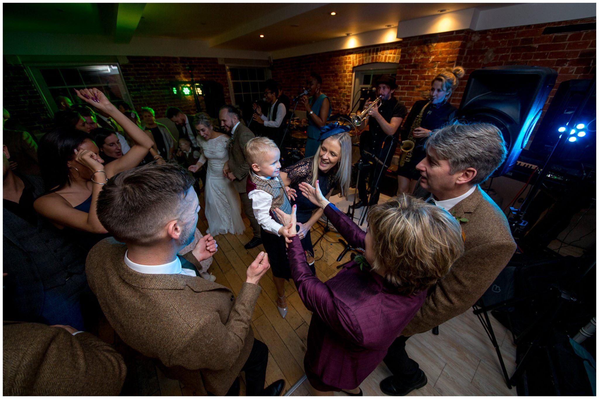 Guests crowd the dancefloor