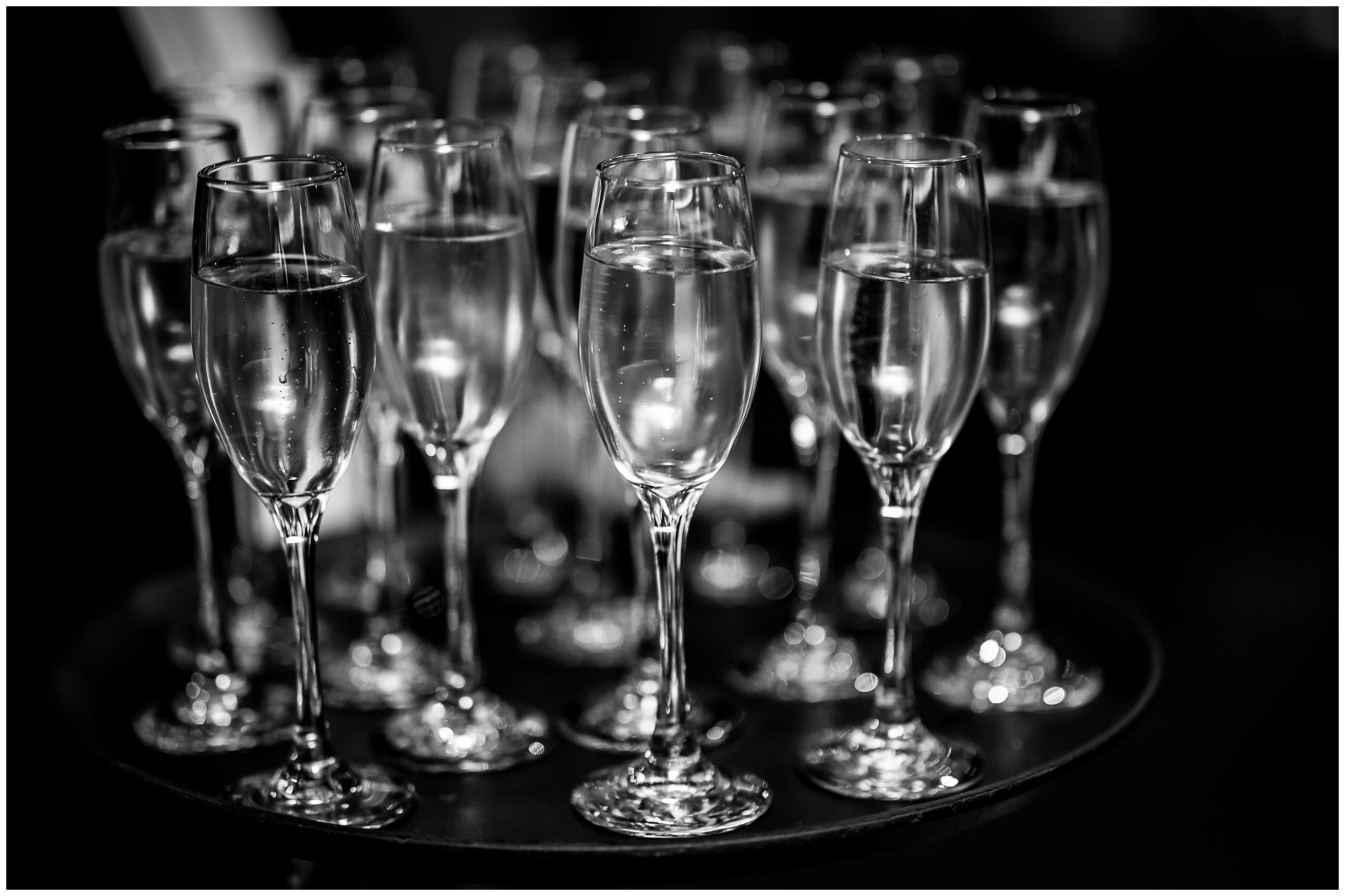 Champagne ready for the speeches