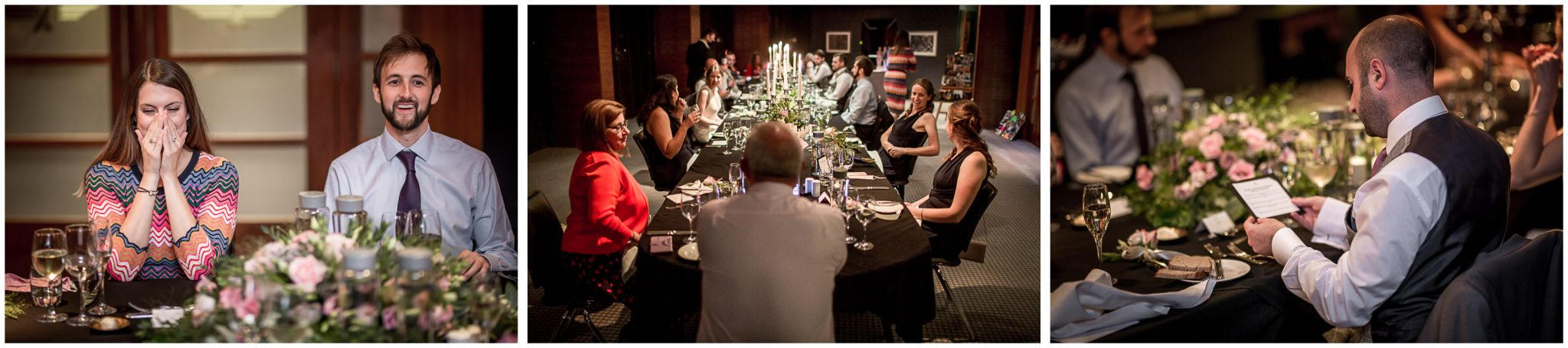 Wedding reception in the Sky Bar at the Aviator Hotel