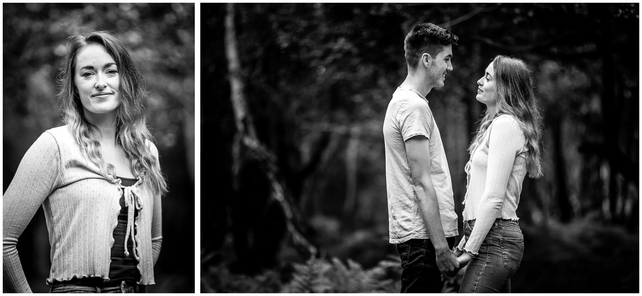 New Forest pre-wedding engagement photo session 02